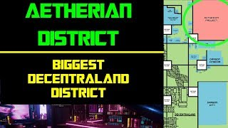 Aetherian Project Guide | The Biggest Decentraland District!