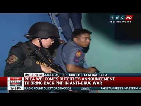 PDEA welcomes imminent return of PNP in drug war operations