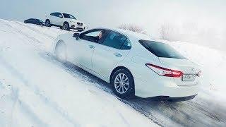 Фото с обложки Что Может Toyota Camry 3.5 Против Bmw X6 И Porsche Cayenne