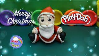 สอนวิธีปั้นแป้งโดว์แซนตาครอส Play Doh Santa