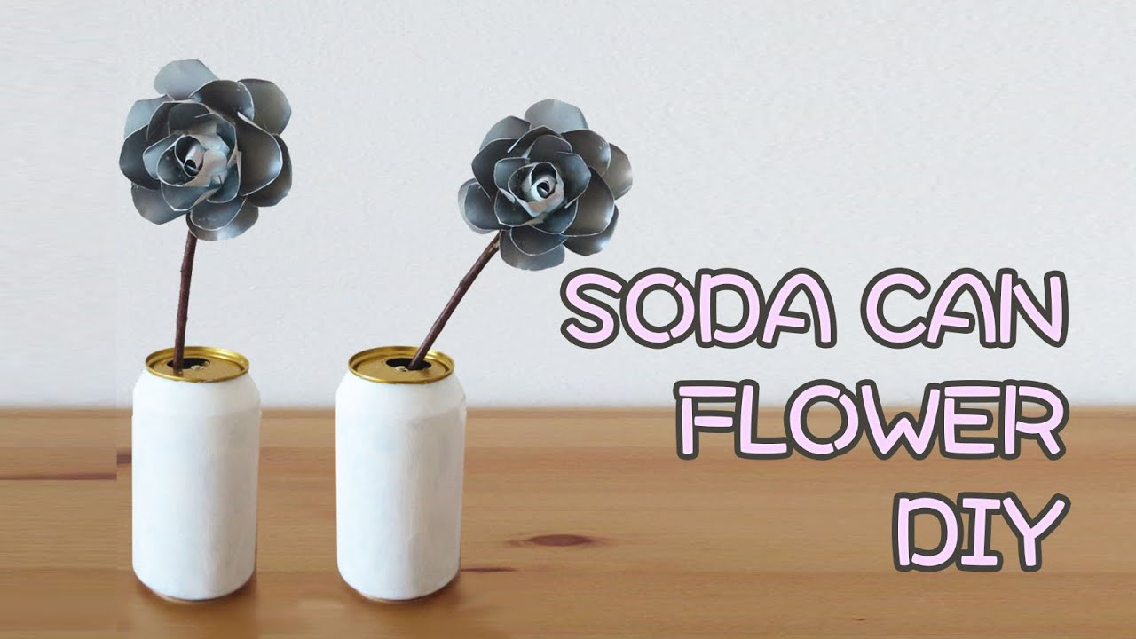 Diy Solar Panels Soda Cans Diy Soda Can Flower Decor Sunny Diy Youtube