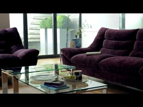 Chenille fabric & leather sofas & chairs | Contour Furniture | Furniture Village