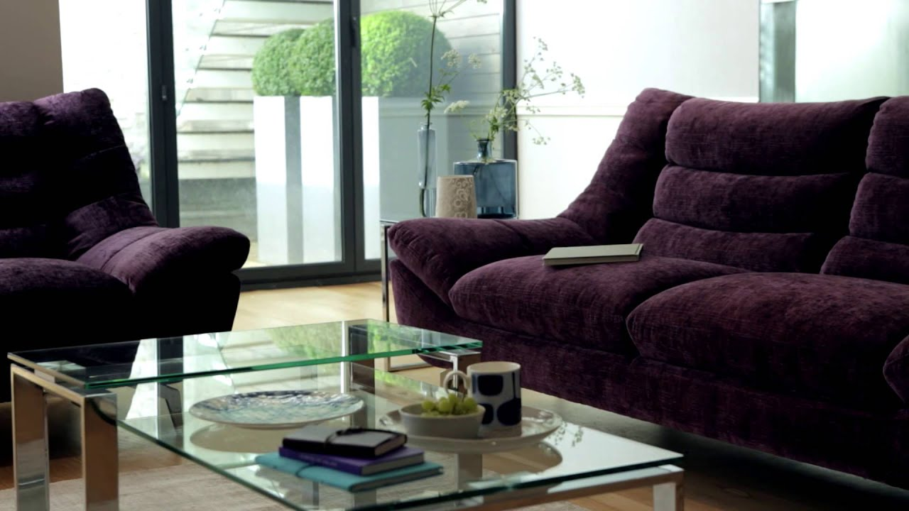 Chenille Fabric Leather Sofas Chairs Contour Furniture Village