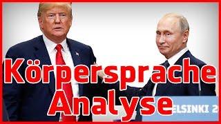 Trump und Putin Pressekonferenz Helsinki - Körpersprache Analyse
