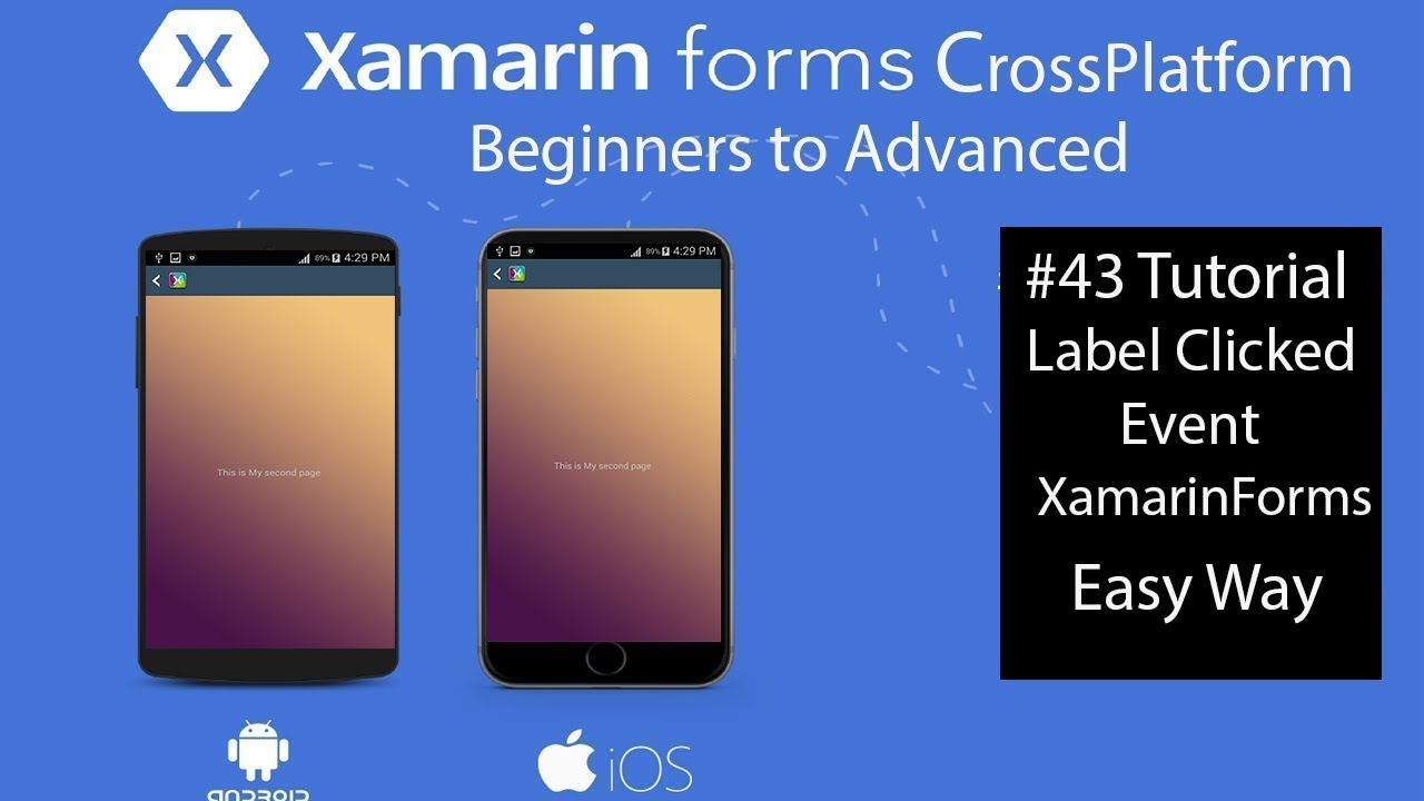 Xamarin Forms Label Clicked Event|c# and Xaml| [Tutorial 43]