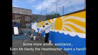 Bookwell Primary School Mural, Egremont, Cumbria, UK