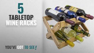 Top 10 Tabletop Wine Racks [2018]: Sorbus Bamboo Foldable Countertop Wine Rack 6-bottles (Bamboo)