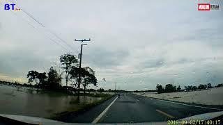 น้ำท่วมถนนสายวาปีปทุม-นาดูน(บ้านกระยอม - บ้านหนองเดิ่น -บ้าน โสกยาง -นาดูน )
