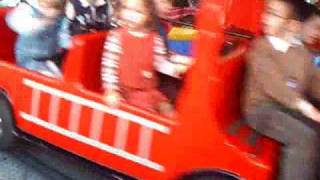 Fire Engine And Car Ride At Nellie Bly Amusement Park In Coney Island Brooklyn New York
