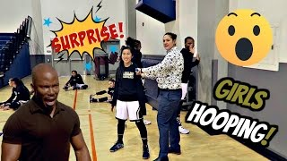 Drove 3 HOURS to SURPRISE my SISTER!! BBall Game - GAME WINNER!!