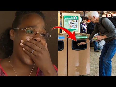 Плачущий мужчина выбросил в мусор какой то сверток. Это заметила одна женщина, и совершила чудо!