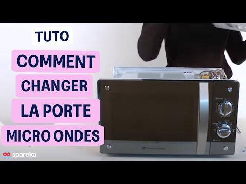 Remplacer la porte de votre micro ondes youtube - Micro onde encastrable porte laterale ...