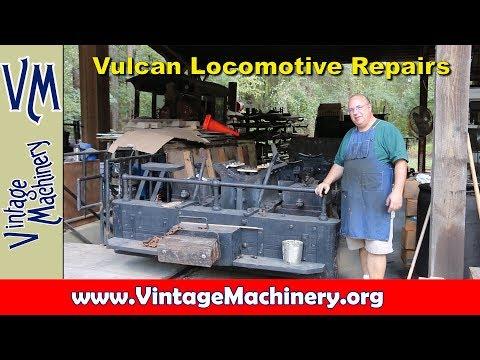 Vulcan Locomotive:  Taking Apart for Boiler Repairs