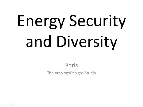 Energy Security and Diversity - Creating Quantitative Models and Indices