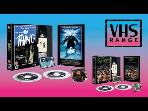 HMV Exclusive VHS Range Bluray Collection  The Thing  The Warriors