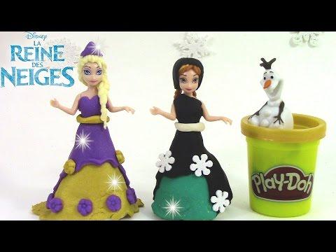 Pâte à modeler Princesse Reine des neiges mini poupées magiclip Elsa Anna Frozen playdoh