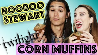 Booboo Stewart Makes Twilight Muffins with Kim Possible