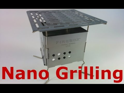 "Grilling On Folding Firebox Nano Using The 5"" Adjustable Fire Grate"