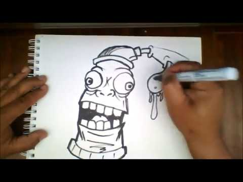how to draw a graffiti r