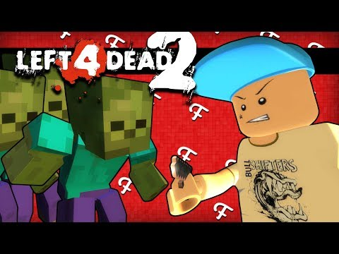 L4D2: Lego Meets Minecraft Zombie Mobs! (Left 4 Dead 2 - Comedy Gaming)