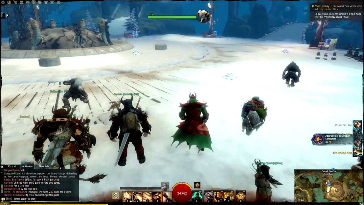 Guild Wars 2 - Toymaker Tixx's Special Wintersday Gifts - YouTube