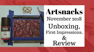 Artsnacks November 2018 Unboxing & First Impressions