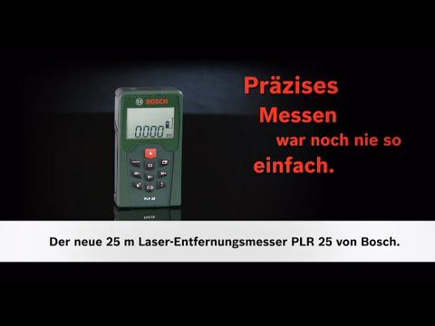 Bosch Entfernungsmesser Bedienungsanleitung : Bosch stellt vor: digitaler laser entfernungsmesser plr 25 youtube