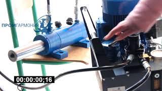 Домкрат с полым штоком 20 тонн ДПГ 20-180 в работе с электрической маслостанцией НЭ 1-6-РД-380