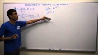 Discontinuidad Removible o Inevitable de una Función (Parte 1 de 3)