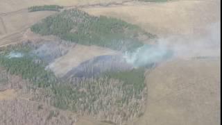 В Башкирии журналисты с километровой высоты зафиксировали первый лесной пожар