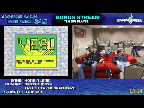 Awesome Games Done Quick 2013 Bonus Stream Part 29 - Home Alone