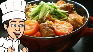 жаренный рис с чоризо.  рецепт от кулинарного шоу жарь пей