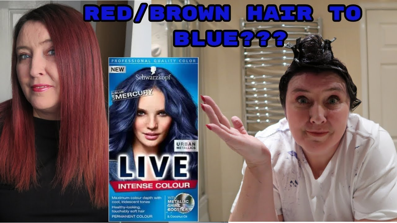 Dying My Hair From Red Brown To Blue Hair Dye Fail