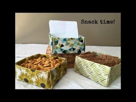 Wrapigami:  Beeswax Wrap Box Tutorial