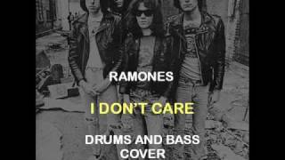 Ramones - I Don't Care (Drums And Bass Backing Track Cover)