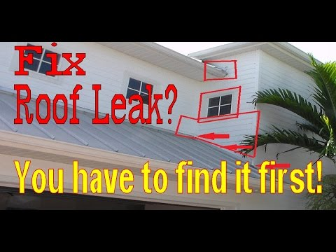 Ceiling Leaking Water How To Find A Roof Leak Youtube