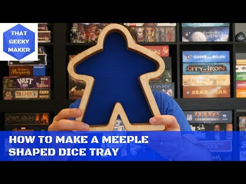 How to Make a Meeple Shaped Dice Tray