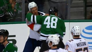 Stars vs. Panthers erupts with six fights, 138 combined penalty minutes