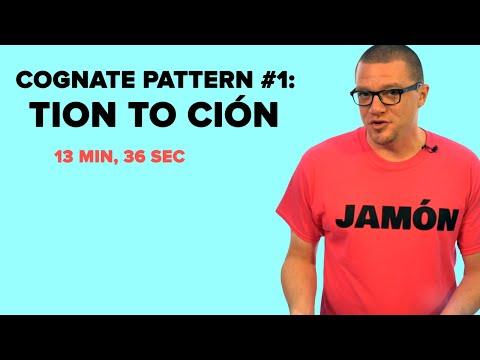Spanish Cognate Pattern #1: TION to CIÓN Nouns (S03E01)