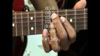 Guitar Chord TABS Tutorial Kool & The Gang FRESH Style Electric Chords Lesson