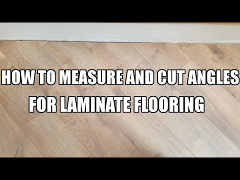 How To Measure And Cut Angles For Laminate Flooring Youtube
