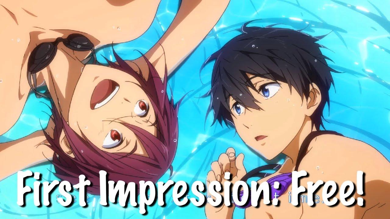 first impression free iwatobi swim club swimming anime youtube