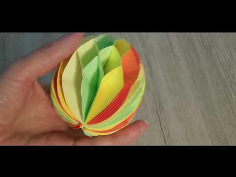 Пасхальное яйцо 3D из бумаги, объёмное origami