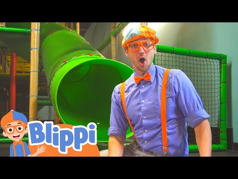 Playing With Blippi At The Kids Club Indoor Playground | Educational Videos For Kids