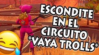 Video de JUGANDO AL ESCONDITE en CIRCUITO DESERTICO ? VAYA TROLLS FORTNITE PERSONALIZADAS