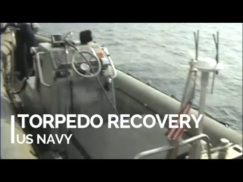Recovering a Torpedo by US Navy, HD 720p