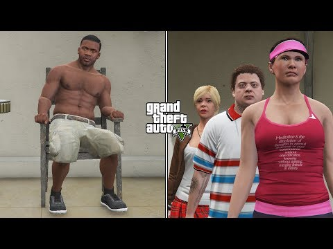 What Happens If Franklin Meets Michael's Family In GTA 5 Before The Scary Ritual? (REVENGE)