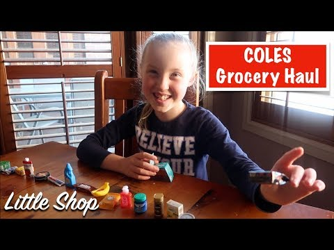 COLES Grocery Haul + Little SHOP Collectibles | Australian Family Vlog