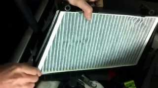 mercedes c klasse w 203 innenraumfilter wechseln how to air cabin filter replacement