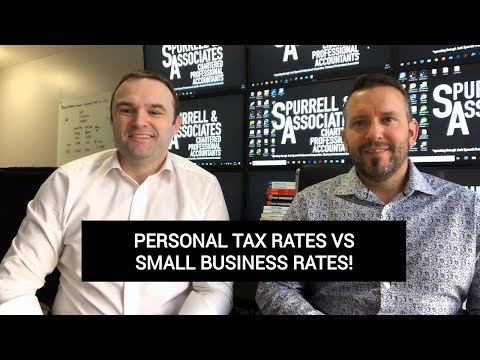 Edmonton Accountant | Personal Tax Rates Vs Small Business Rates